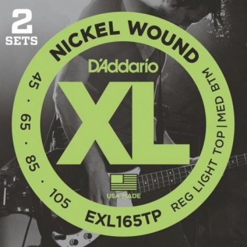 D'Addario EXL165TP Bassnaren Long Scale (45-105) 2-Pack
