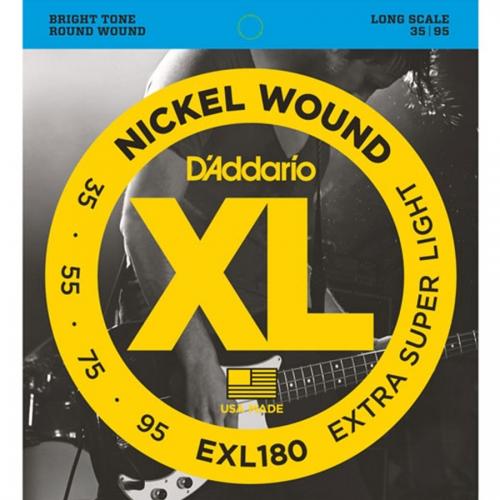 D'Addario EXL180 Bassnaren Long Scale (35-95)
