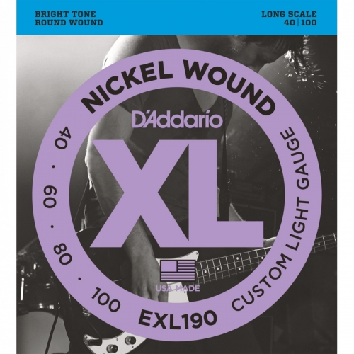D'Addario EXL190 Bassnaren Long Scale (40-100)