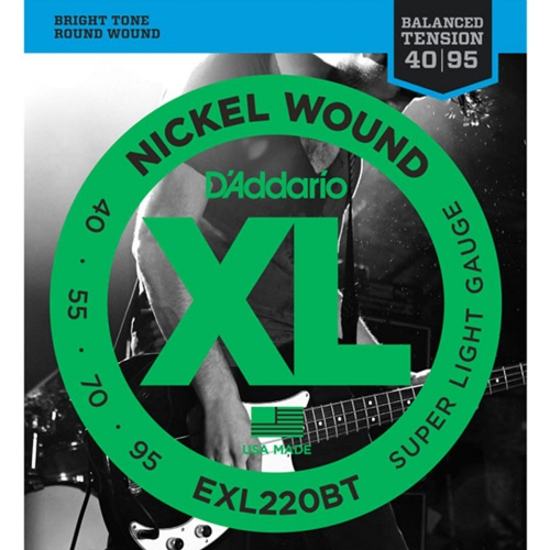 D'Addario EXL220BT Bassnaren Long Scale (40-95)