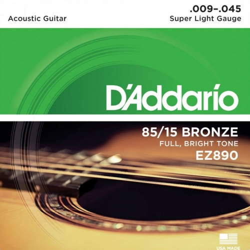 D'Addario EZ890 Westernsnaren Super Light (9-45)