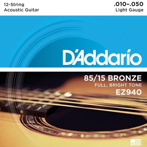D'Addario EZ940 Akoestische Snaren 12-Snarig (10-50)