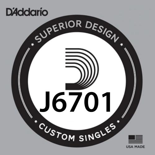 D'Addario J6701 Plain Steel Losse Mandoline Snaar .011