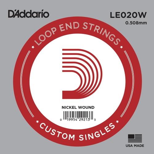 D'Addario LE020W Nickel Wound Losse Banjo Snaar .020