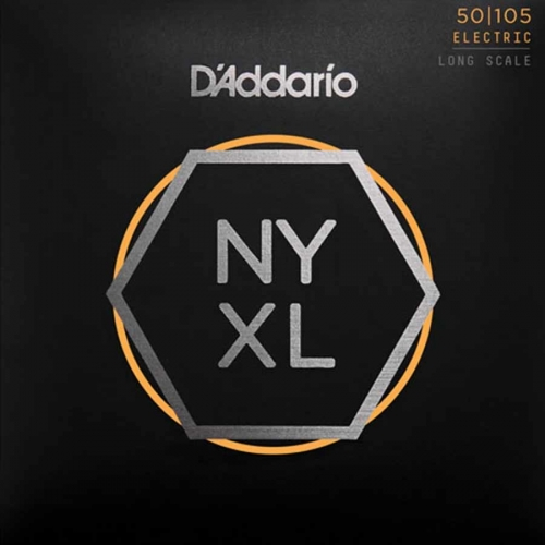 D'Addario NYXL50105 Nickel-Plated Bassnaren Long Scale (50-105)