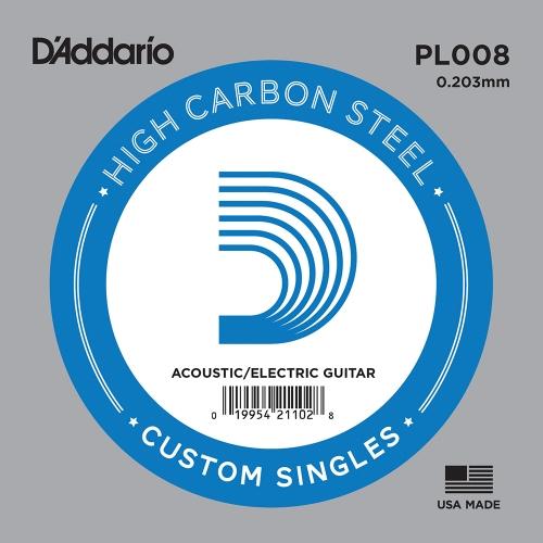 D'Addario PL008 Losse Snaar .008 Elektrisch / Western