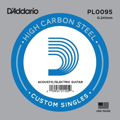 D'Addario PL0095 Losse Snaar .0095 Elektrisch / Western