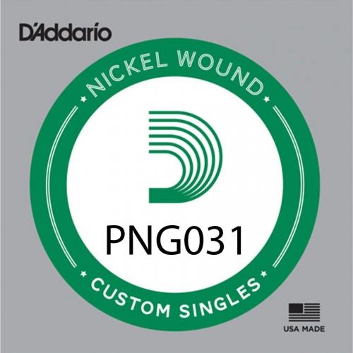 D'Addario PNG031 Pure Nickel .031 Losse Snaa
