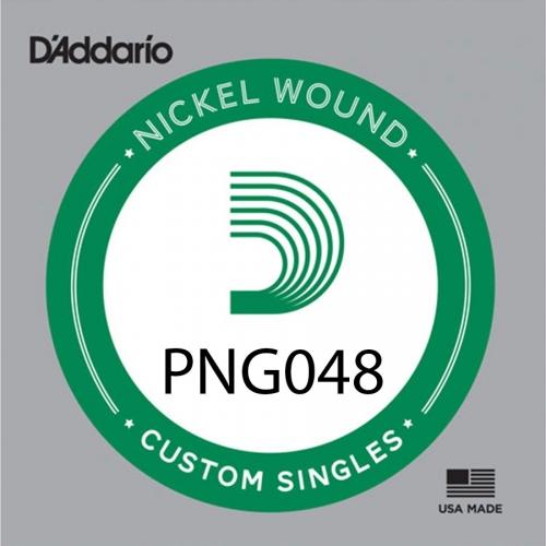 D'Addario PNG048 Pure Nickel .048 Losse Snaar