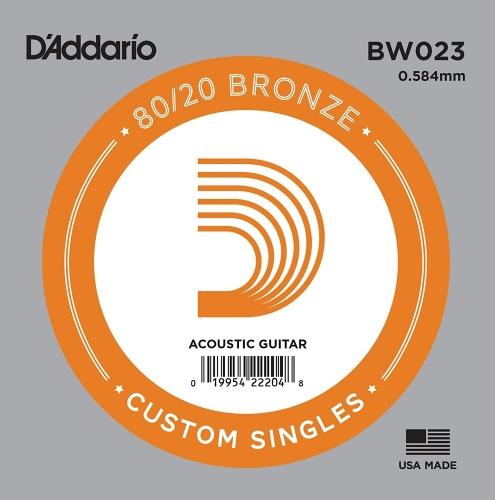 D'Addario BW023 Losse Snaar voor Akoestische Gitaar - Brons .023