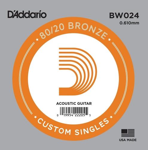 D'Addario BW024 Losse Snaar voor Akoestische Gitaar - Brons .024