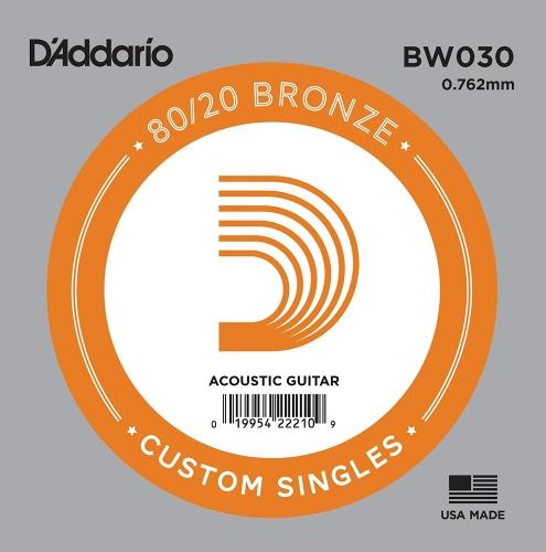 D'Addario BW030 Losse Snaar voor Akoestische Gitaar - Brons .030