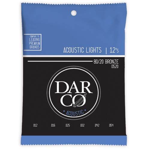 Darco D520 akoestische gitaarsnaren light (12-540