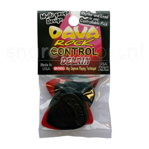 Dava Rock Control Delrin Plectrum 6-Pack