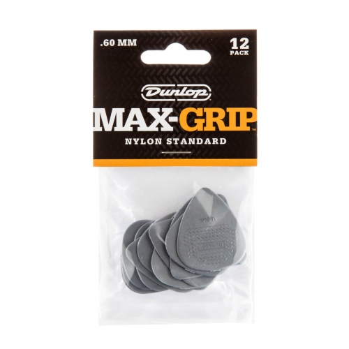 Dunlop 449P060 Max Grip Plectrum 0.60mm 12-Pack