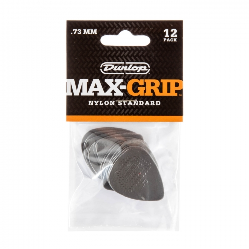 Dunlop 449P073 Max Grip Plectrum 0.73mm 12-Pack