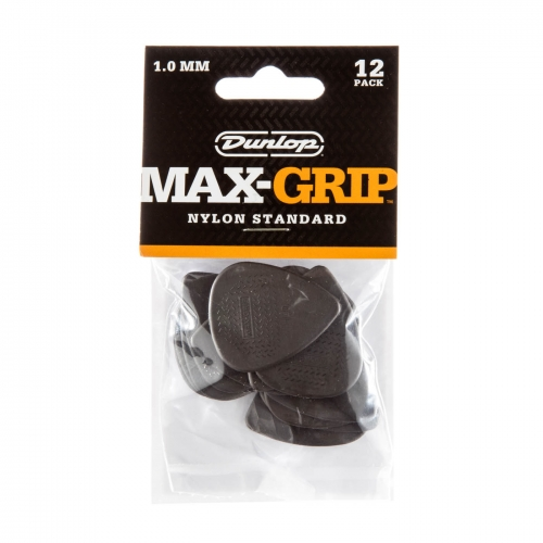 Dunlop 449P100 Max Grip Plectrum 1.0mm 12-Pack