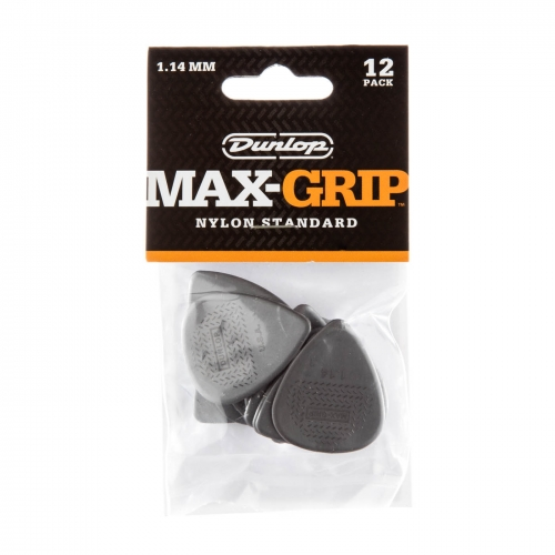 Dunlop 449P114 Max Grip Plectrum 1.14mm 12-Pack