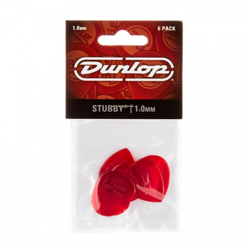Dunlop 474P100 Stubby Jazz 1.0 Plectrum 6-Pack