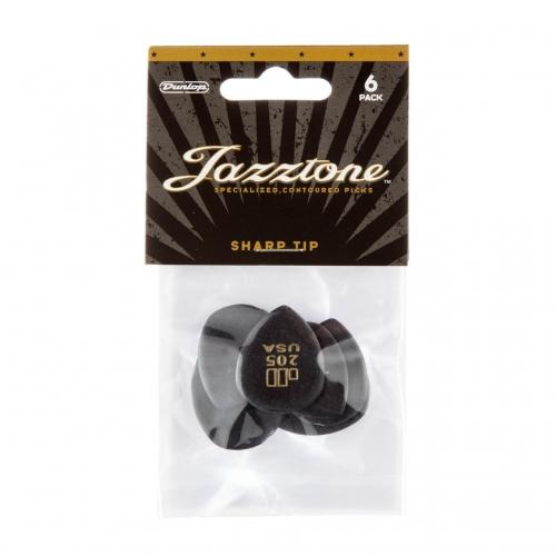 Dunlop 477P205 Jazztone Punt Plectrum 6-Pack