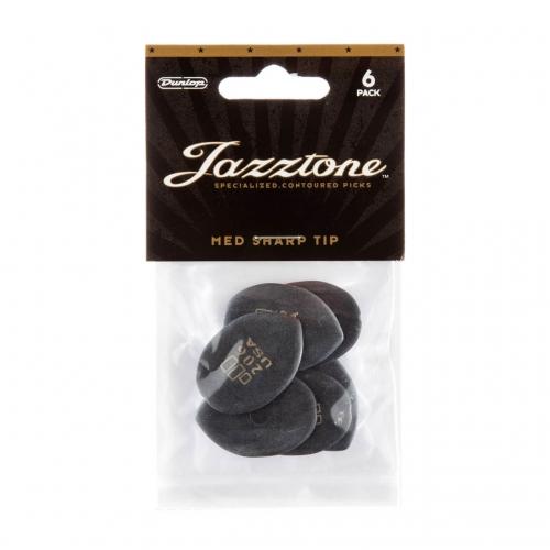 Dunlop 477P206 Jazztone Medium Punt Plectrum 6-Pack