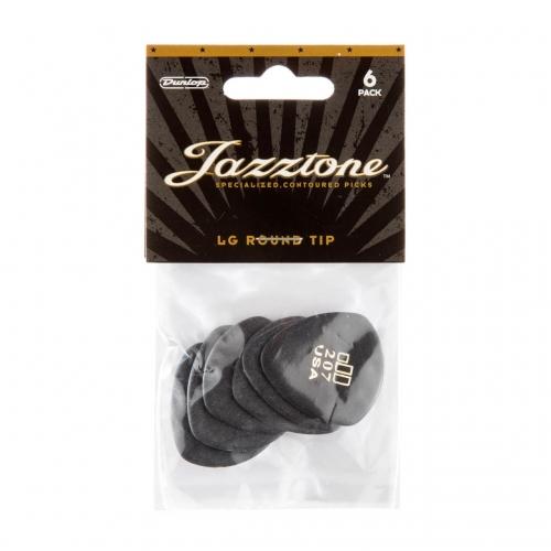 Dunlop 477P207 Jazztone Large Ronde Punt Plectrum 6-Pack