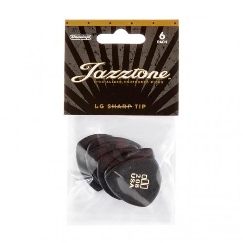 Dunlop 477P208 Jazztone Large Scherpe Punt Plectrum 6-Pack