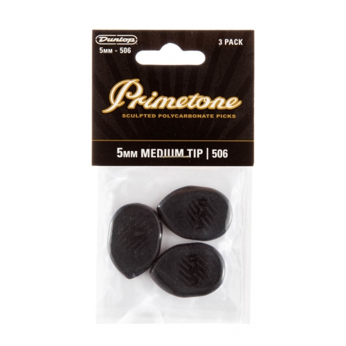 Dunlop 477P506 Primetone Classic Medium Gypsy Jazz Plectrum 5.0mm 3-Pack