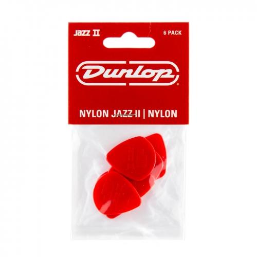 Dunlop 47P2N Jazz II Plectrum Rood 6-Pack