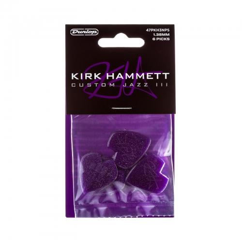 Dunlop 47PKH3NPS Kirk Hammet Purple Sparkle Jazz III Plectrum 6-Pack