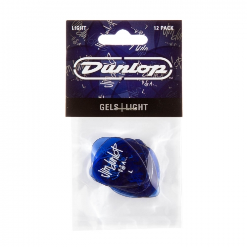 Dunlop 486PLT Gel Plectrums Light 0.50mm 12-Pack
