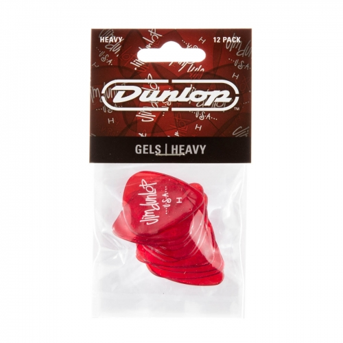 dunlop gel heavy plectrum 12-pack