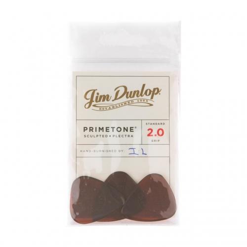 Dunlop 510P200 Primetone Standaard Grip Plectrum 2.0mm 3-Pack