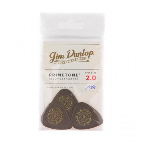 Dunlop 511P200 Primetone Standaard Glad Plectrum 2.0mm 3-Pack