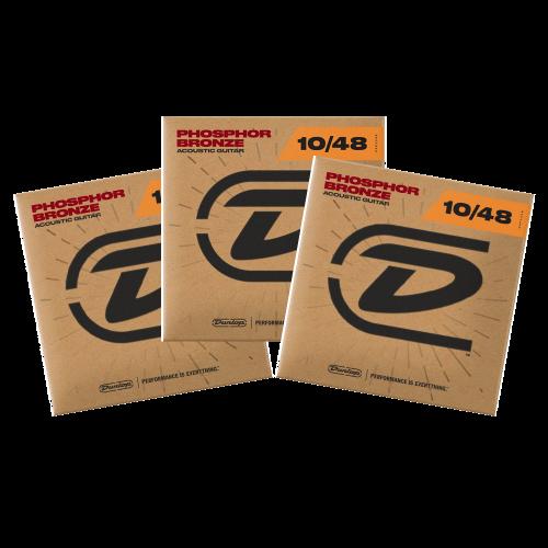 Dunlop DAP1048 Westernsnaren Phosphor Bronze (10-48) 3-Pack