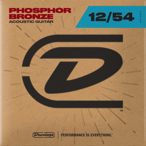 Dunlop DAP1254 Westernsnaren Phosphor Bronze (12-54)