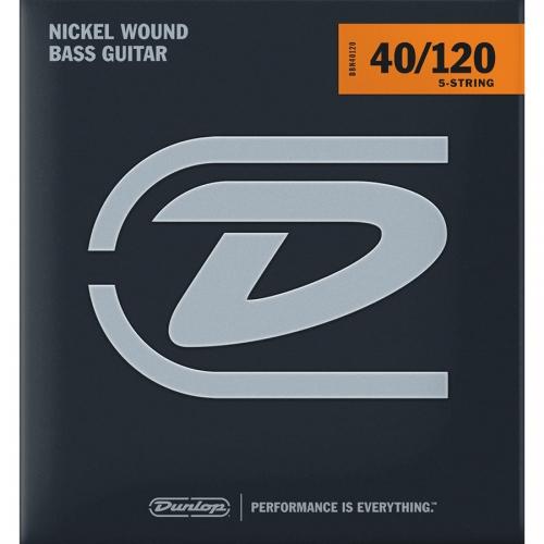 Dunlop DBN40120 Bassnaren 5-Snarig Long Scale (40-120)