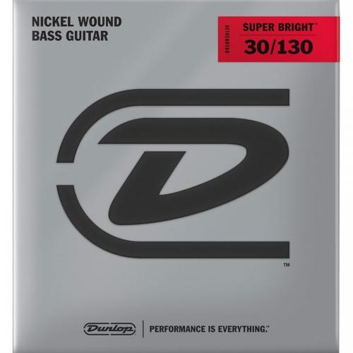 Dunlop DBSBN30130 Super Bright Bassnaren 6-Snarig Long Scale (30-130)