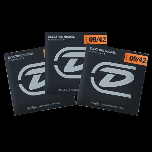 Dunlop DEN0942 Snaren voor Elektrische Gitaar (9-42) 3-Pack