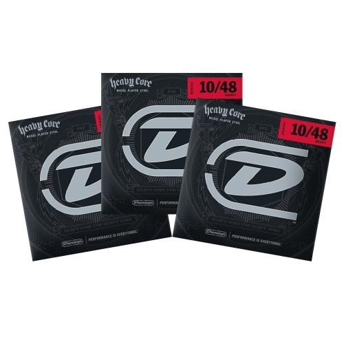 Dunlop DHCN1048 Snaren voor Elektrische Gitaar (10-48) 3-Pack
