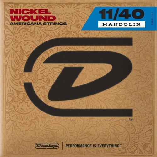 Dunlop DMN 1140 Americana Nickel Wound Snaren voor Mandoline (11-40)