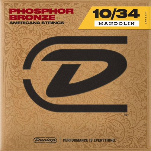 Dunlop DMP1034 Americana Phosphor Bronze Snaren voor Mandoline (10-34)