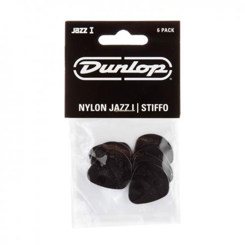 dunlop jazz 1 plectrum zwart sixpack