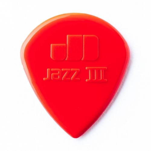 Dunlop Plectrum Jazz III 1.38mm Rood