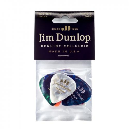 Dunlop PVP106 Celluloid Medium Variety Plectrum 12-Pack