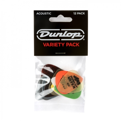 Dunlop PVP112 Acoustic Variety Plectrum 12-Pack