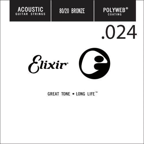 Elixir 13124 Polyweb Bronze Acoustic .024 Losse Snaar