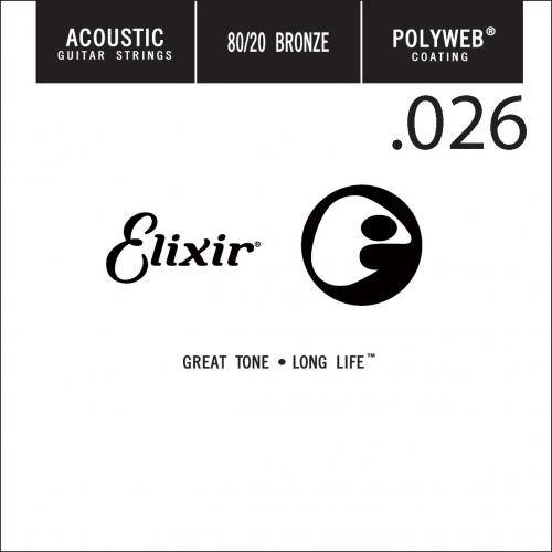 Elixir 13126 Polyweb Bronze Acoustic .026 Losse Snaar