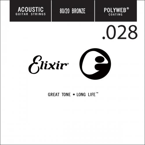 Elixir 13128 Polyweb Bronze Acoustic .028 Losse Snaar