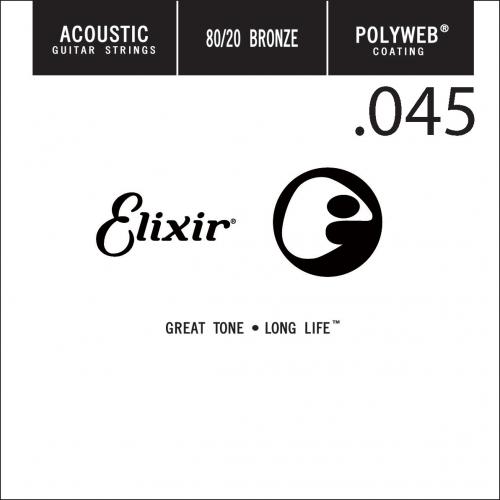 lixir 13145 Polyweb Bronze Acoustic .045 Losse Snaar